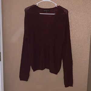Maroon chunky oversized sweater